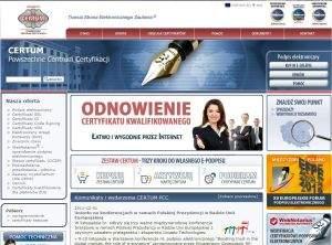 CERTUM PCC jedną z pięciu firm  działających w Polsce, które świadczą publiczne usługi certyfikacyjne