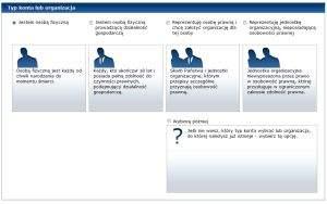 Konto w ePUAP-ie mogą założyć osoby fizyczne, osoby fizyczne prowadzące działalność gospodarczą, osoby prawne oraz jednostki organizacyjne, nieposiadające osobowości prawnych. Typ konta lub organizacji określasz już na etapie rejestracji konta.