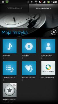 Sony Xperia S posiada autorską aplikację muzyki, nie tylko Google Music