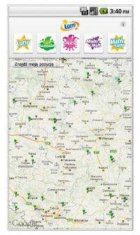 Lokalizacja kolektur na mapie