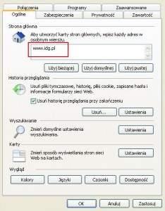 Internet Explorer - strona startowa - Internet Explorer - strona startowa