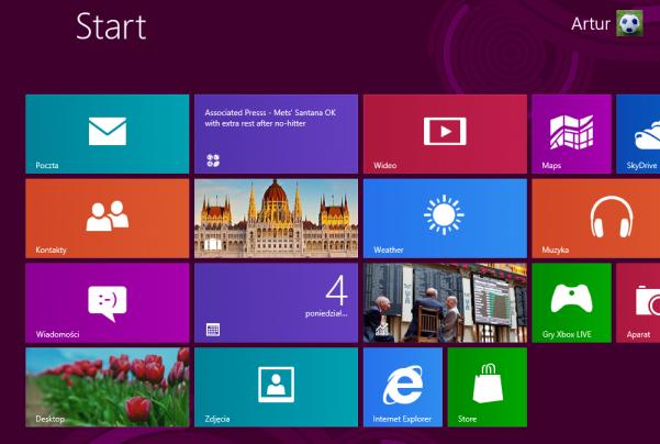 Interfejs Metro UI nowego systemu Windows 8 - Interfejs Metro UI został zaprojektowany do obsługi dotykiem. Cechą charakterystyczną Metro są duże kafle, piktogramy z życia codziennej oraz kolory dobrane na zasadzie kontrastu. Bez wątpienia Metro będzie znakiem rozpoznawczym systemu Windows na różnych urządzeniach przez najbliższe lata.
