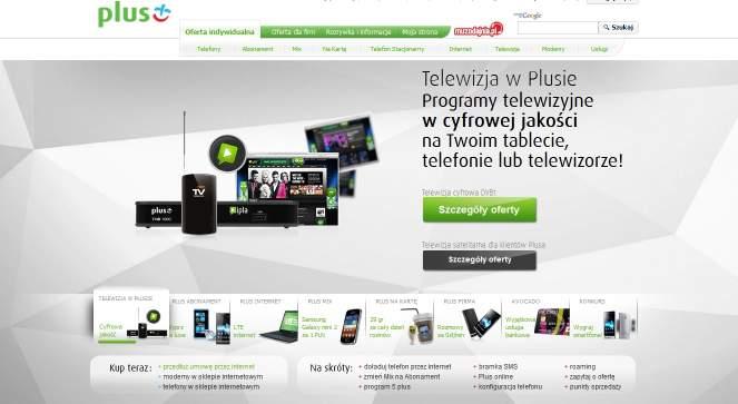 Plus w swojej ofercie także posiada usługę telewizji mobilnej