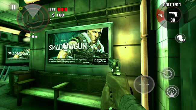 Billboardy w grze reklamują inne gry Madfinger Games