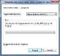 Windows 7 zapewnia program do nagrywania plików obrazów ISO na nośniki CD lub DVD.