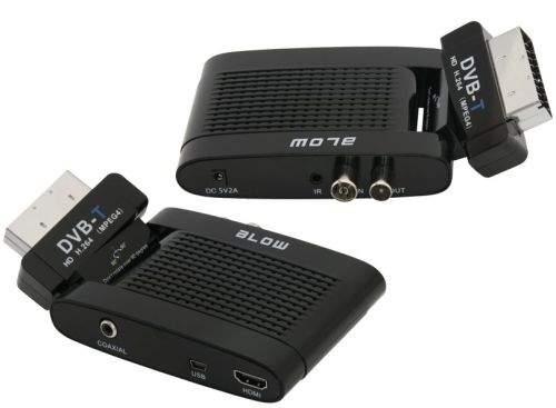 Blow DVB-T 4705HD - chociaż to tuner do telewizorów z gnaizdem SCART, wyposażony jest też w gniazdo HDMI.