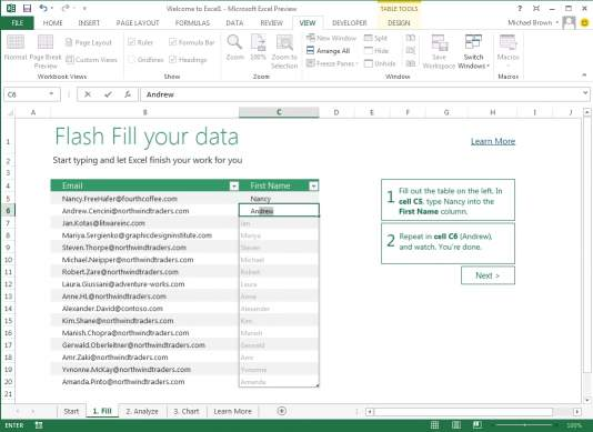 Excel w Office 2013