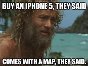 Jeden z memów na temat nowych map Apple