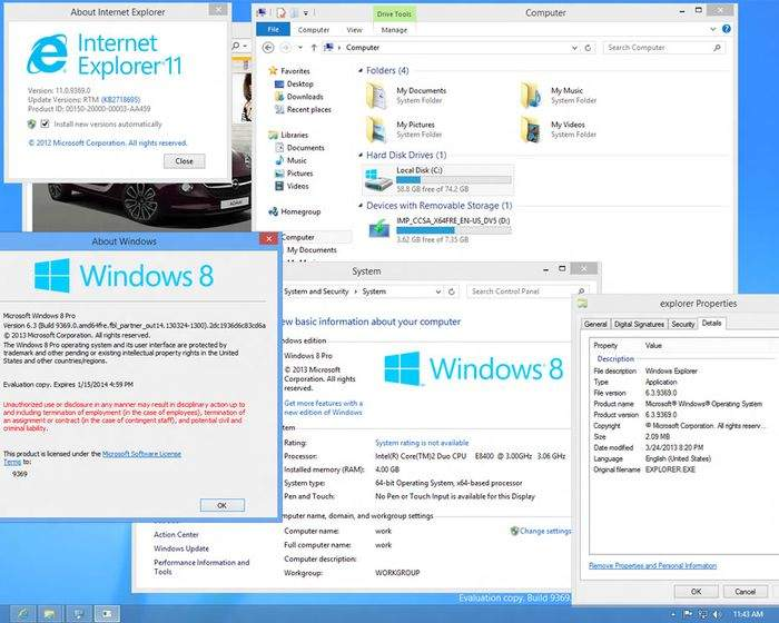Zrzut ekranu z systemu Windows 8.1