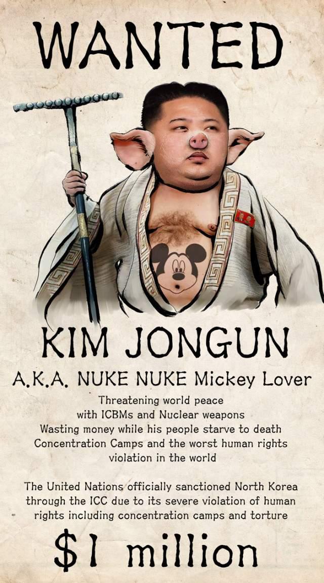 List gończy za Kim Dzong Unem