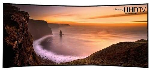 Telewizor Samsunga z zakrzywionym ekranem o rozdzielczości 5120 x 2160 pikseli