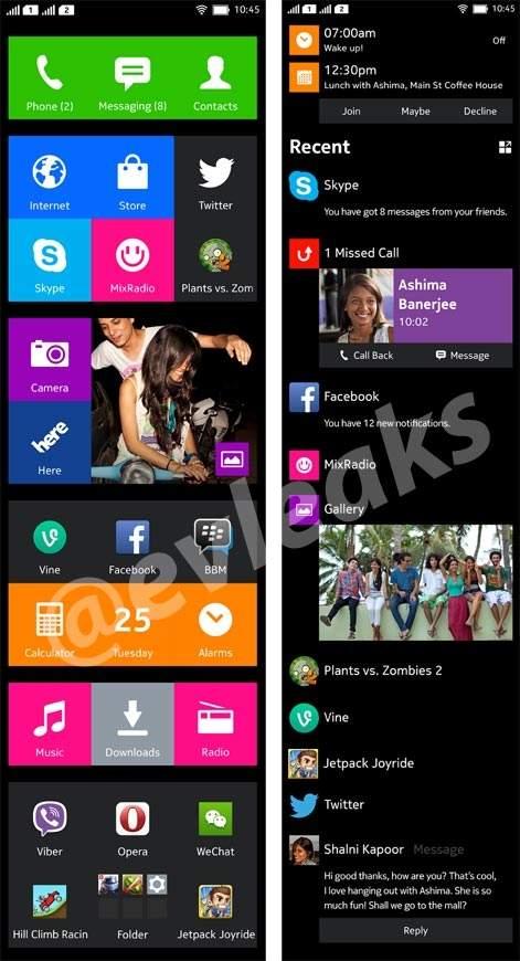 Interfejs smartfona Nokia Normandy