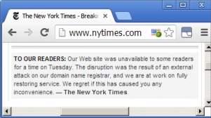 Nawet takie witryny jak renomowany serwis internetowy New York Timesa mogą paść atakiem cyberprzestępców.