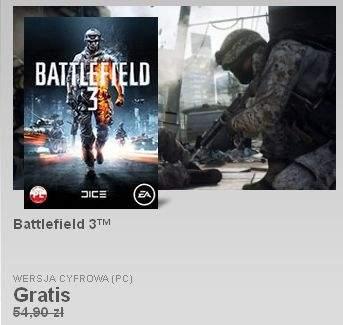 Battlefield 3 za darmo na Origin
