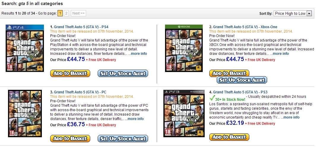 GTA 5 dla PC, Xbox One, PlayStation 4