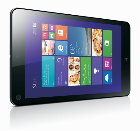 Użyty w testach tablet Lenovo ThinkPad 8 pracuje na systemie Windows 8.1 i ma 8,3-calowy ekran (1920 x 1200). Cena: ok. 2000 zł za wersję 64 GB.