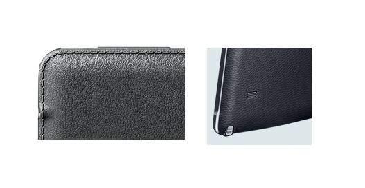 Od lewej: tylna klapka Galaxy Note 3, tylna klapka Galaxy Note 4. Widać, że Samsung zrezygnował z imitacji szwu.