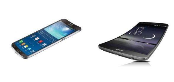 Od lewej: Samsung Galaxy Round i LG G Flex