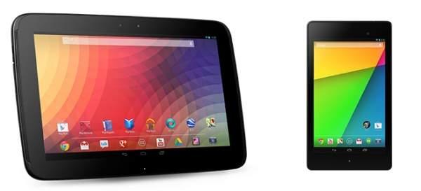 Nexus 10 i Nexus 7