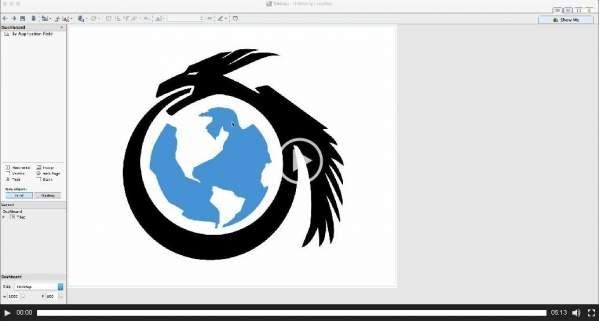 Fragment prezentacji z logiem firmy Taia Global Inc.