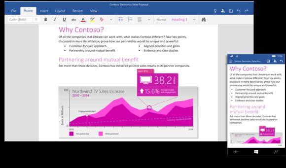 Nowe aplikacje Office do Windows 10 przypominają programy  wydane na iPada