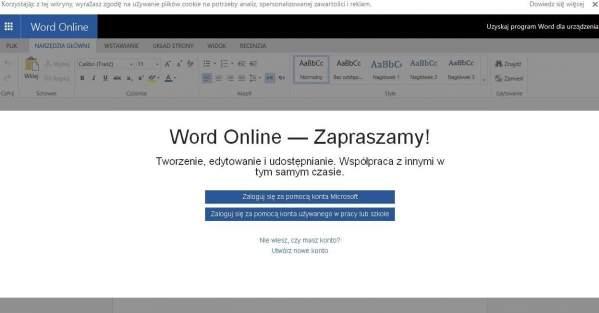 Word Online - oficjalna strona aplikacji