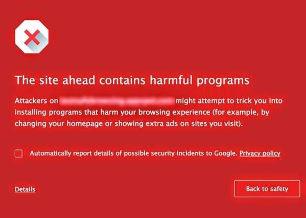 Google Chrome - nowy ekran ostrzegawczy