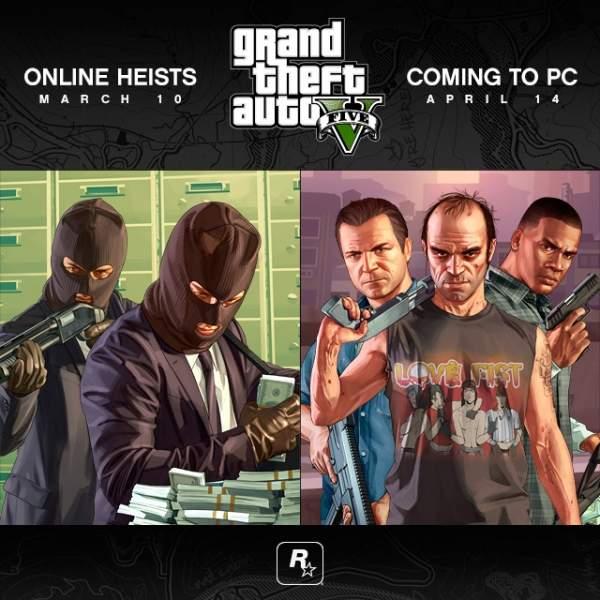 GTA V dla PC  i Heist  Online