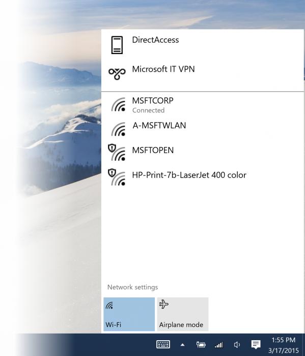 Poprawione wykrywanie Wi-fi w Windows 10 build 10041