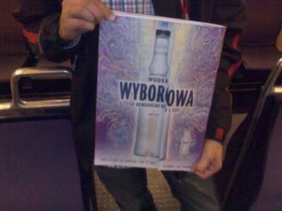 Reklama Wyborowej w francuskiej gazecie