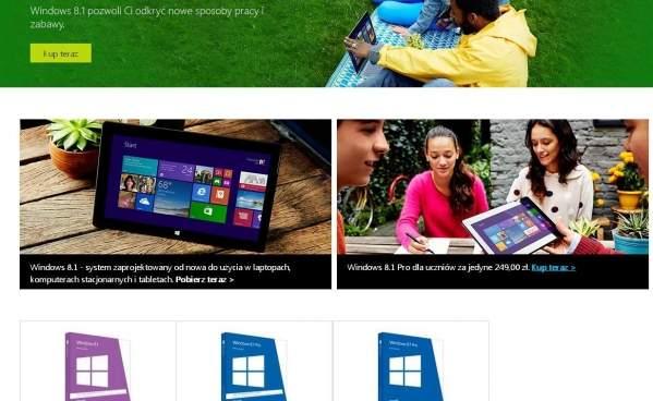 Witryna Windows Store :foto: własne)