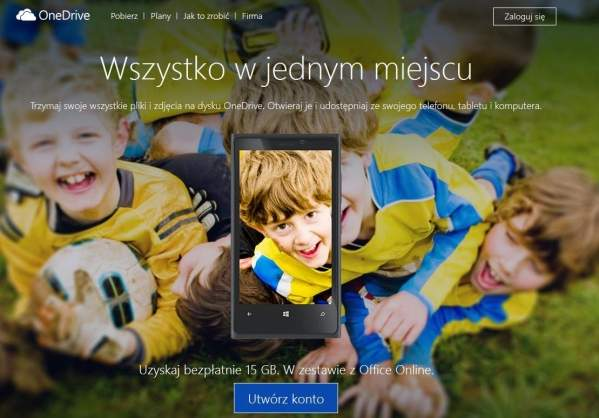 Polska strona OneDrive