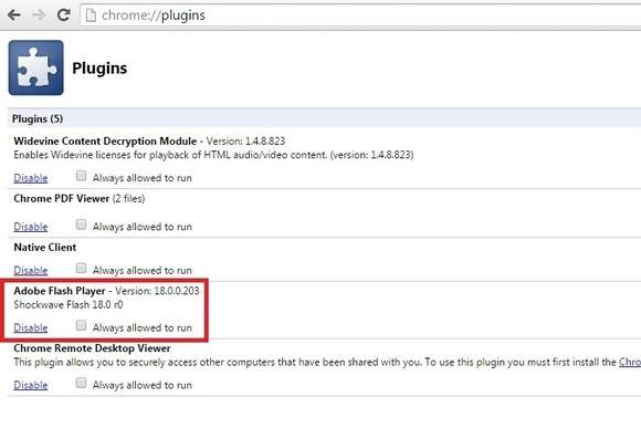 Adobe Flash - wyłączanie wtyczki w przeglądarce Chrome
