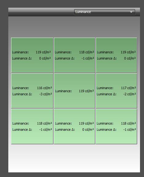 EIZO ColorEdge CS270  - równomierność podświetlenia