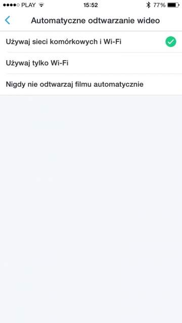 Wyłączanie automatycznego odtwarzania wideo - Twitter (iOS)