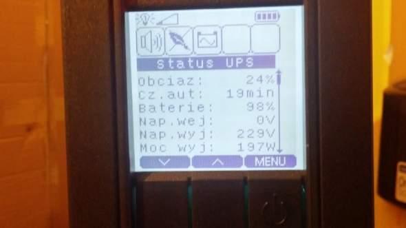 Ever Sinline RT XL - poziom naładowania akumulatorów po 3h.