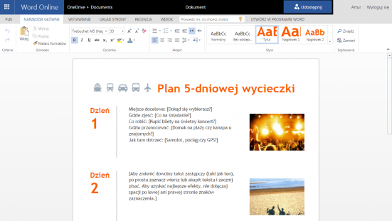 Office 365 to aplikacje online, klasyczne programy pakietu Office (dostępne w wybranych planach) oraz szereg usług komplementarnych do przechowywania plików (OneDrive), poczty (Exchange) i komunikacji (Skype dla firm)