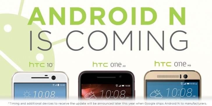 HTC 10, One M9 i One A9 otrzymają Androida N