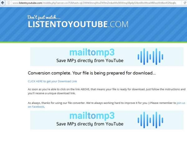 Download MP3 from YouTube
