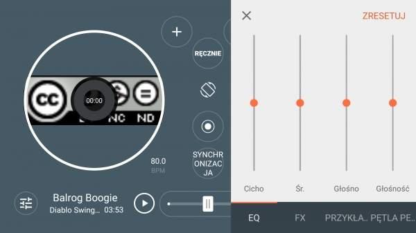 Alcatel Idol 4 - konsola DJ-a w odtwarzaczu muzycznym