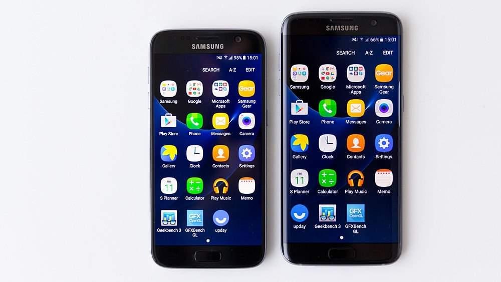 Na zdjęciu: Samsung Galaxy S7 i Galaxy S7 edge.
