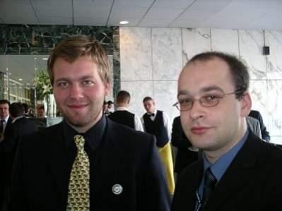 Aleksander Tarkowski, koordynator Creative Commons PL oraz Jarosław Lipszyc działacz Internet Society Poland oraz Creative Commons