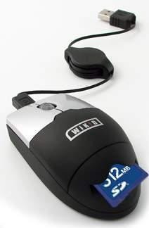 Połączenie myszy komputerowej z czytnikiem kart SD