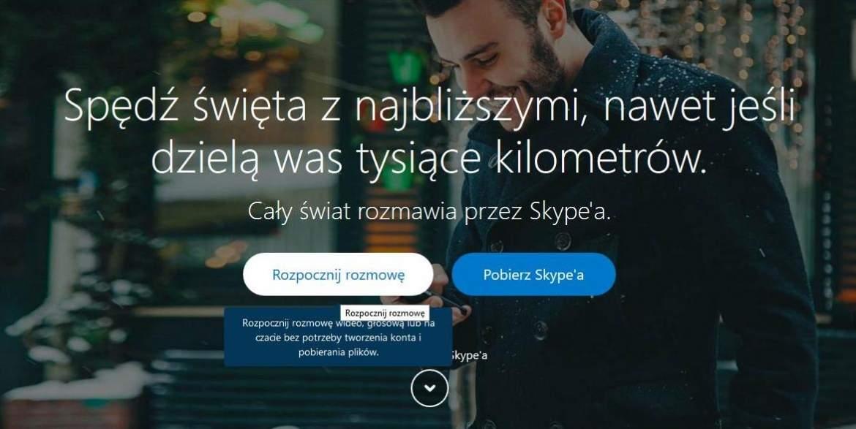 Skype - rozmowa bez konta i instalowania komunikatora
