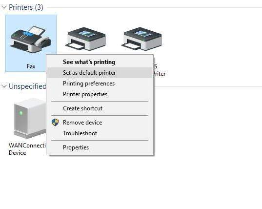 Zmiana drukarki domyślnej w Panelu Sterowania