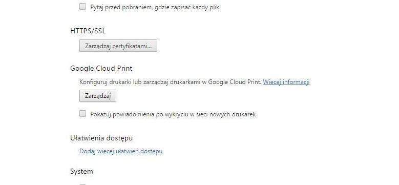 Zarządzanie Google Cloud Print