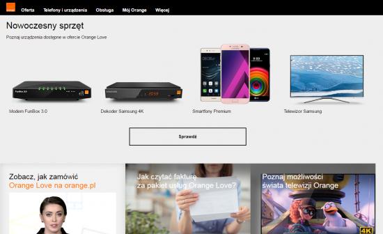 W ofercie Orange Love dostaniesz modem FunBox 3.0 z WiFi i dekoder Samsung z funkcją nagrywania oraz jakością obrazu Ultra HD. Do zestawu możesz dobrać smartfon klasy premium lub telewizor Samsung.