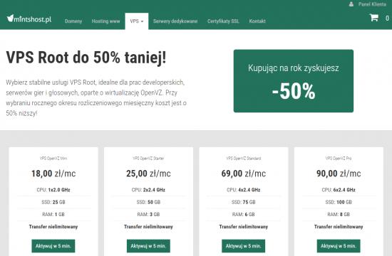 Z gwarancją zasobów czy w idealnej cenie? W mintshost.pl możesz wybierać między VPS opartymi na wirtualizacji OpenVZ oraz KVM. Każdy idealny dla serwerów gier i głosowych.