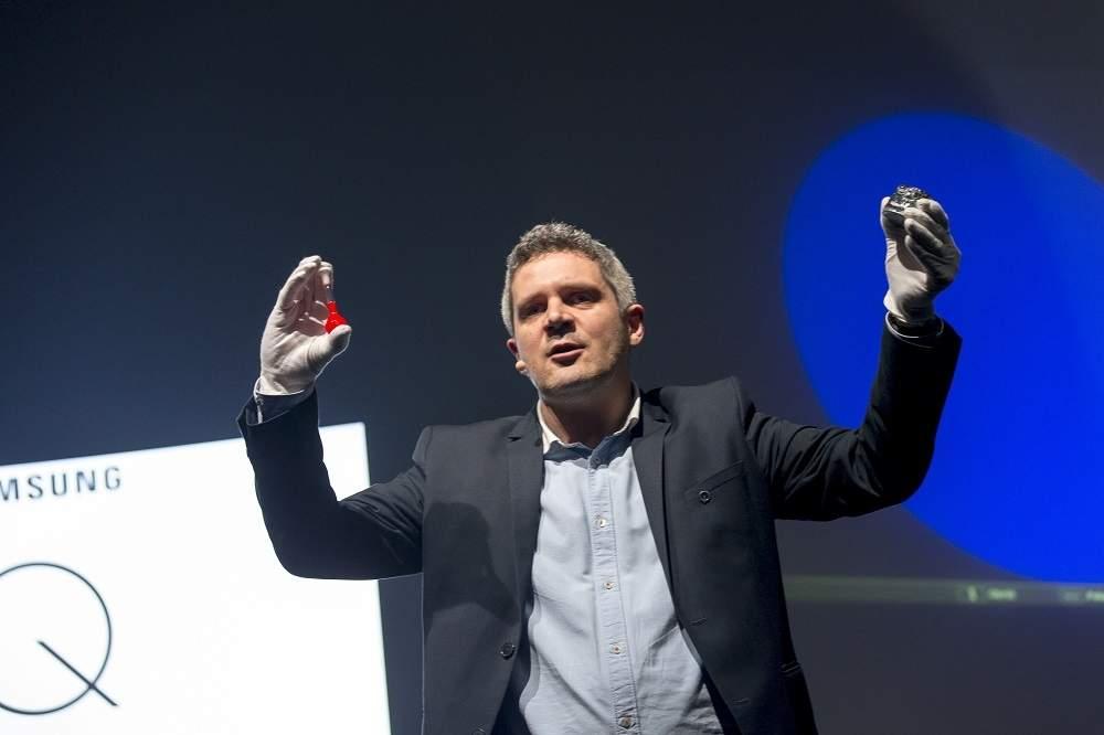 Dr Jacek Błoniarz-Łuczak na premierze telewizorów Samsung QLED