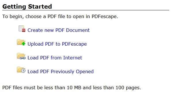 PDFescape Online PDF Editor